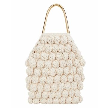 Super Hot White Crochet Bag Cotton