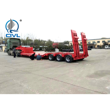 3 Axles 100 Ton Low Bed Semi Trailer
