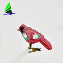 Bird Animal Design Christmas Clear Glass Ornaments