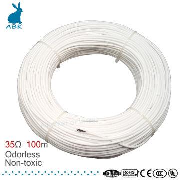 100m HRAG high quality 12K 33ohm carbon fiber heating cable floor heating wire electric hotline Non-toxic odorless heating cable