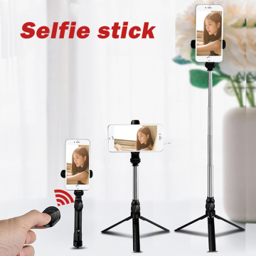 Bluetooth Selfie Stick Tripod Foldable Mini Remote Control Tripod Expandable Handheld Monopod Live Photo Holder for IOS Android