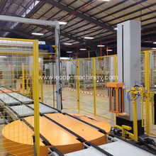 Online Stretch Film Wrapping Packing Line
