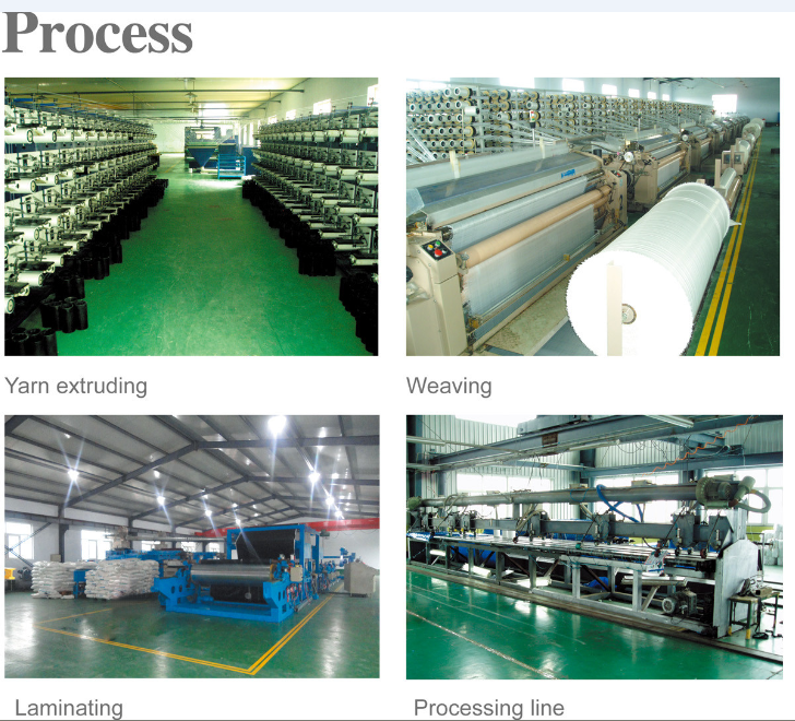 PE tarpaulin production process