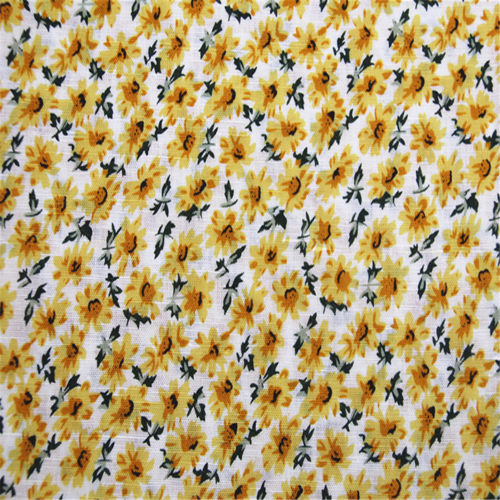 Linen cotton fabric for sunflower