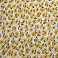 Linen / cotton sunflower printing fabric