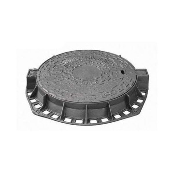 cast iron round lockable anti-settlement manhole cover