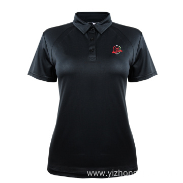 Moisture Wicking Dry Fit Polo Shirt Black