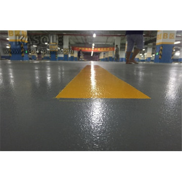 Anti-slip epoxy floor for factory garage