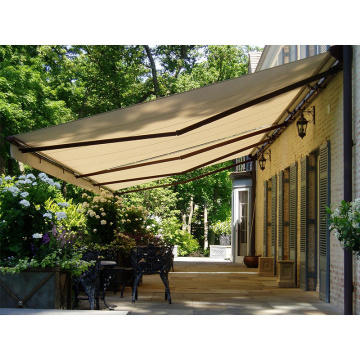 manual retractable outdoor patio awning