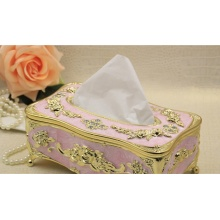 Luxury Wooden Carved Tissue Box