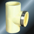 DinPn16 Water Supply Upvc Thread Tee Steel Ring
