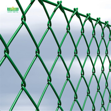 Hot sale PVC green chain link diamond fence
