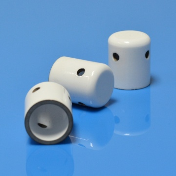 I-One End Closed Glazed Alumina Metallized Ceramic Tube