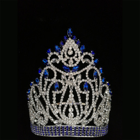 Beauty Blue Queen Girl Pageant Crown Tiara