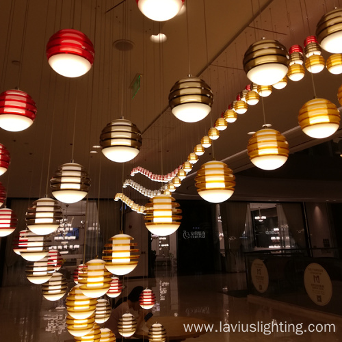 Indoor shopping droplight restaurant cage pendant light