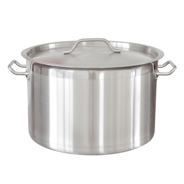 Stainless Steel Pot With Durable Bottom Short Body
