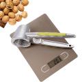 Aluminum Nutcracker with Four Nips Clamps Kitchen Tool Multi-Functional Nut Cracker Sheller Walnut Cracker Plier Opener Tool