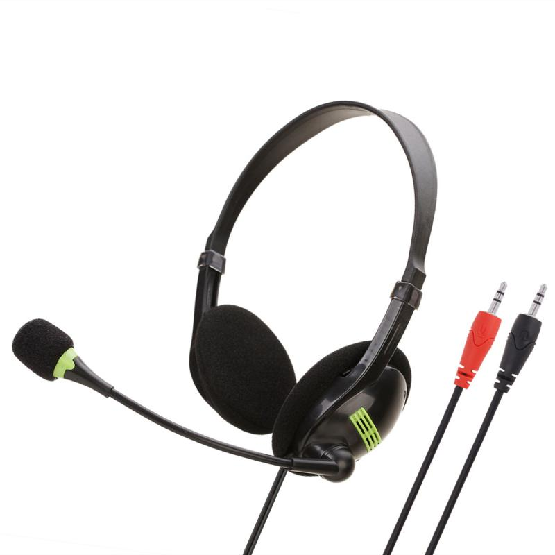 Wired Headset With Microphone Telephone Operator Headphone Noise Canceling For Computer Phones Desktop Boxes For Mac/School