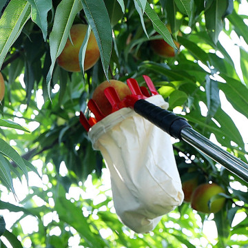 1Pc New Metal Fruit Picker Convenient Fabric Orchard Gardening Apple Peach High Tree Picking Tools #5