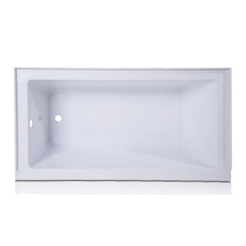 Acrylic Rectangular Drop-in Bathtub in White