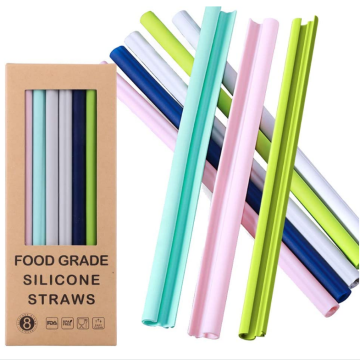 Custom Openable Design Silicone Straws