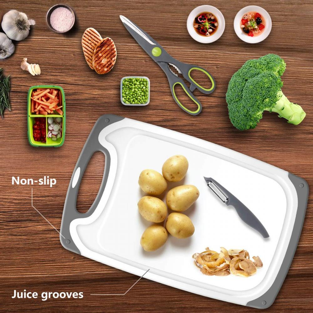 3 pcs  dishwasher safe  plastic chopping board set
