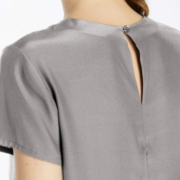 19MM Soft Mulberry Ladies Silk Short Sleeve Tee