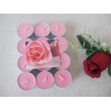 Rose Pink Long Burning Scented Tea Lights