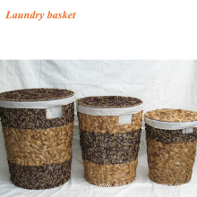 Round Sea Grass Laundry  Basket