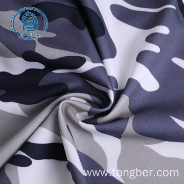 Waterproof polyester custom printed jersey knit fabric