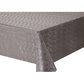 Solid Embossed Fabric Tablecloth for Christmas