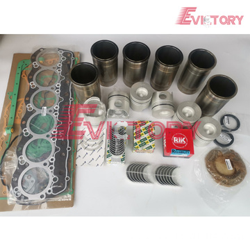 excavator 6WA1-TC engine gasket bearing piston ring liner