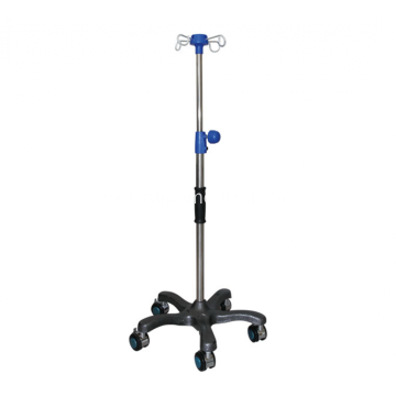 Medical IV Pole Rolling With 4 Hooks 5 Legs