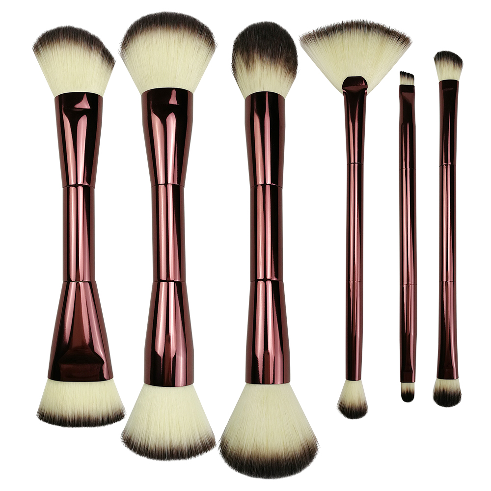 6pc Double Ended Makeup Brush Set