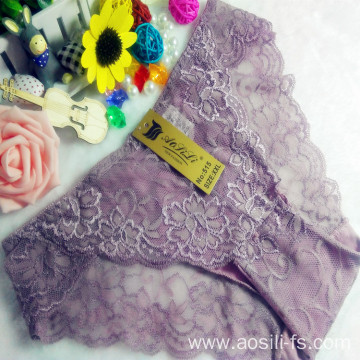 OEM wholesale China cheap cameo brown sexy girl slimming lace cotton fancy underwear 515