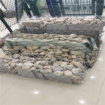 low price hot dipped galvanized gabion mesh flood barrier