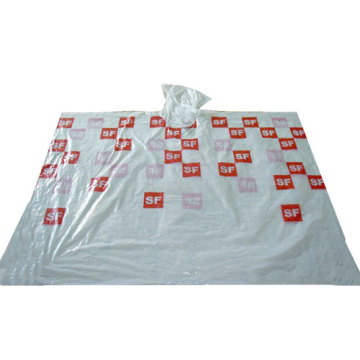White Disposable Poncho