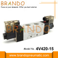 4V420-15 1/2'' Pneumatic Solenoid Valve 5/2 Way 24VDC