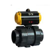 DN32 PVC Electric Ball Valve 4-20mA Electric Actuator