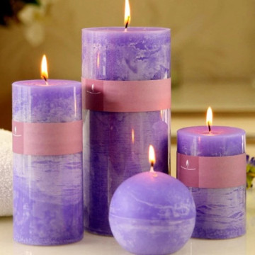 Top Quality Colored Pillar Perfume Candle