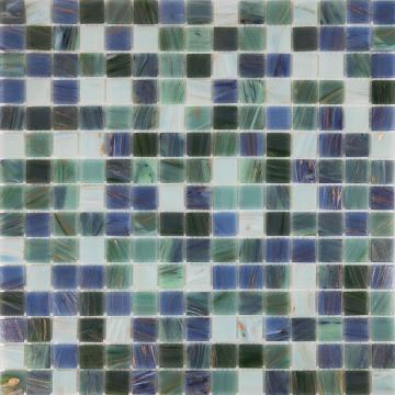 Gold line green turquoise elegant glass mosaic tiles