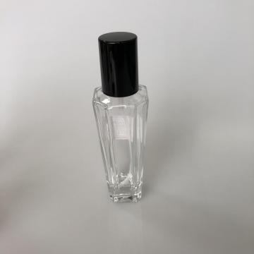 100ml clear bottle with sharp angle