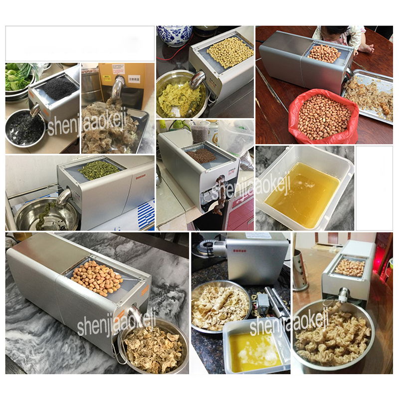 PX5 Automatic household oil press machine Small commercial hot and cold squeeze smart soybean peanut squeeze oil machine 220v