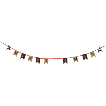 Christmas burlap bunting banner with scottish style