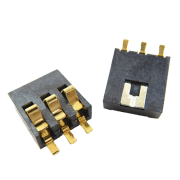 3 Circuit  Battery Connector 2.5MM Centers