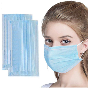 3 Ply Disposable Face Mask Civil Non-woven Mask