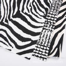 Zebra Stripes DTY Brush Polyester Fabric For Shirt