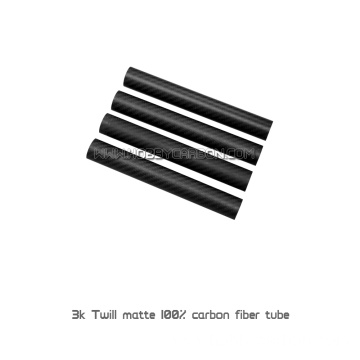 3k 50mm Round Tube Carbon Fiber Pipe