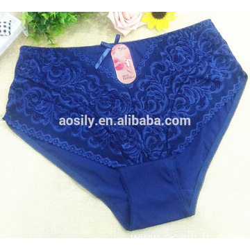 A8510 silky plus size panty new fashion elegant lace underpants for fat women