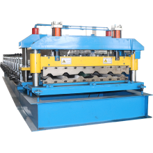Automatic standing seam metal roof sheets making machine